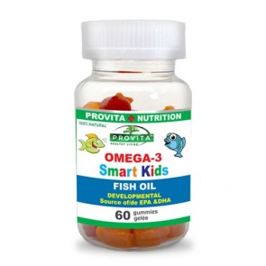 Omega 3 Smart Kids Provita Nutrition 60 jeleuri masticabile