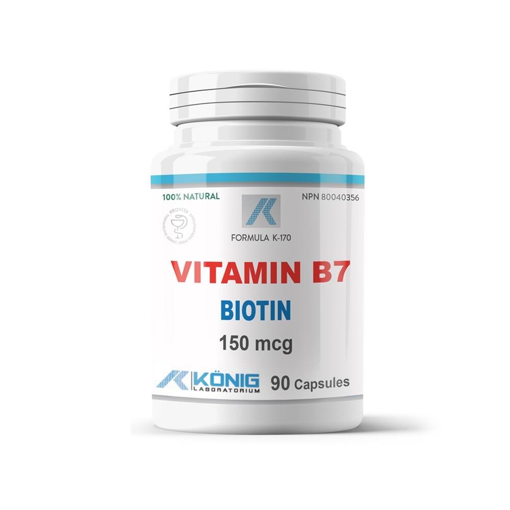 Vitamina B7 Biotina Konig Laboratorium 150 mcg 90 capsule