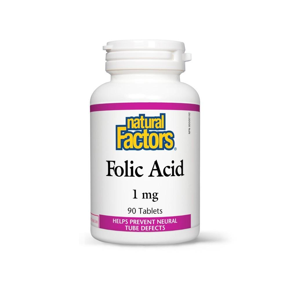 Acid Folic (Vitamina B9) 1 mg (1.000 mcg) 90 tablete