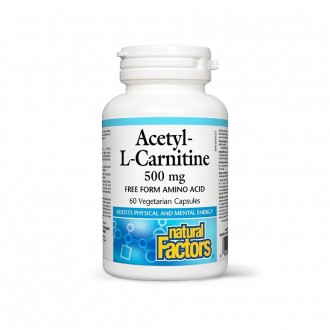 Acetyl-L-Carnitine Natural Factors 500 mg 60 capsule vegetale