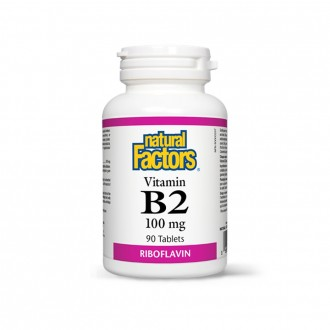 Vitamina B2 – Riboflavina – 100 mg 90 tablete
