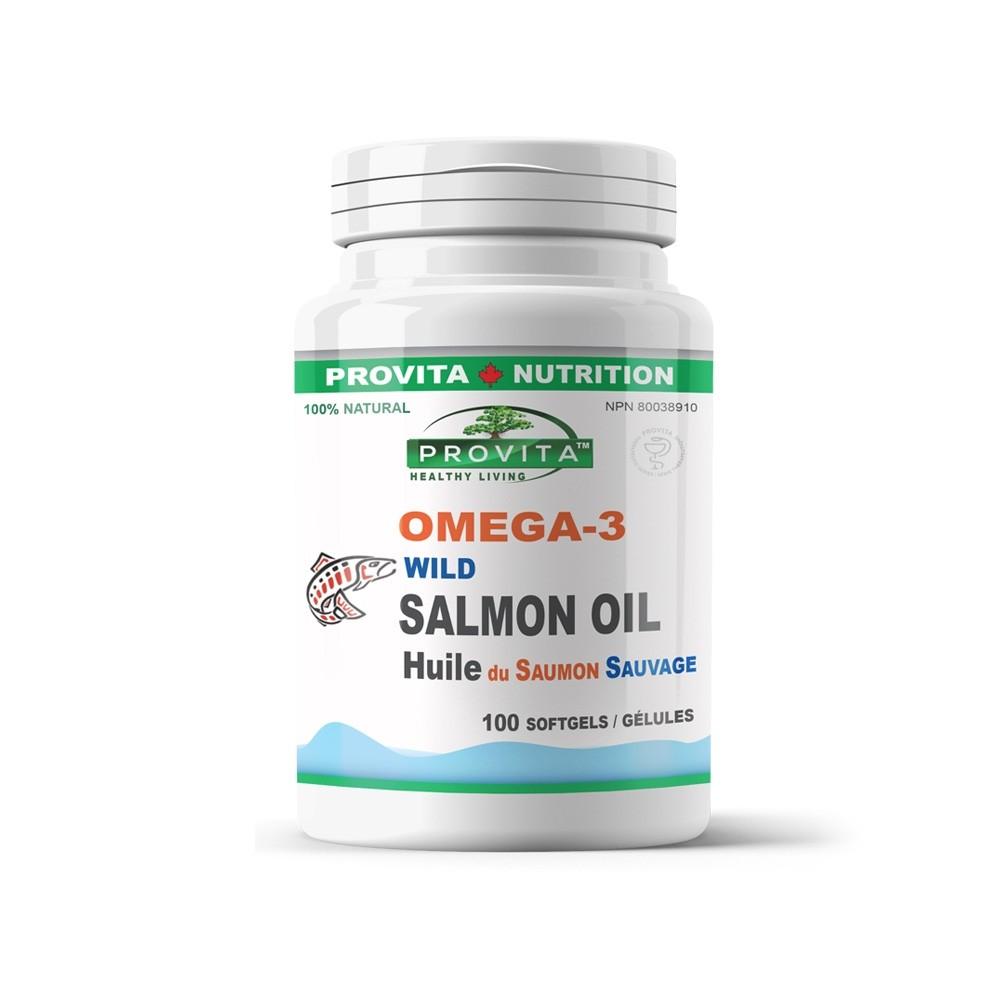 Omega 3 Ulei de Somon Salbatic Provita Nutrition 1000 mg 100 gelule